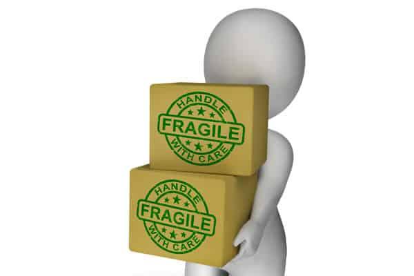guardar objetos frágiles en el trastero