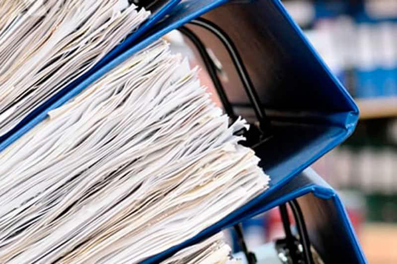 almacenamiento de documentación